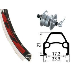 Rodi VR17 forhjul 622-17 36L DH-3N72 navdynamo sølv